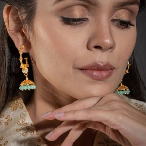 turquoise earrings online india
