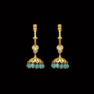 Poise Of Turquoise Danglers