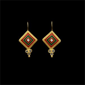 Multicolour Square Earrings
