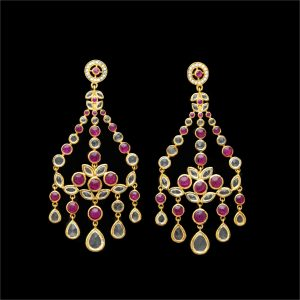 Chandelier Pink Earrings