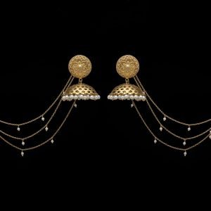 Femme Gold Tone Pearl Earrings