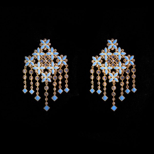 blue colour earrings