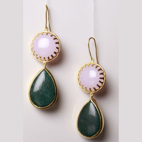 Pink & Green Limelight Earrings