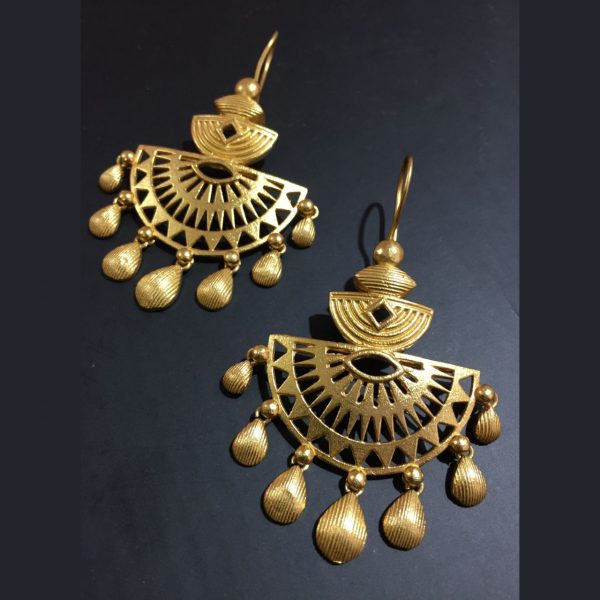 Yellow gold plated earrings