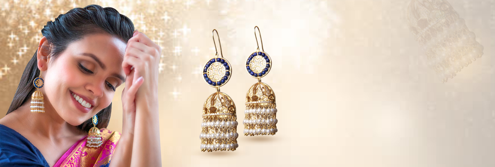 Shop the jaipur silver earrings online at Mohmaya