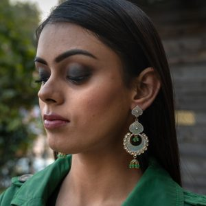Eyes Of Emerald Earrings