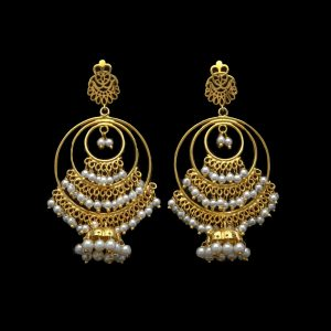 Dame Gold Plated Earrings