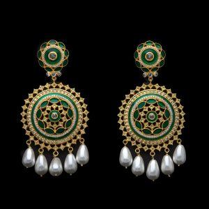 Goddess Green Earrings